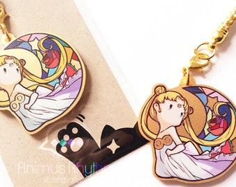 Golden Acrylic strap charm: SailorMoon, Usagi, anime