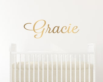 Name Decal, Nursery Name Sign, Vinyl Stickers, Wall Decals Nursery, Custom Name Decal, Nursery Decor, Girls Name Decal, Kids Name Decal, Art