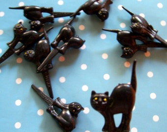 13 Black Cat with Arched Back Cupcake Picks