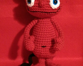 Happy Devil - Devil Doll - Crochet Amigurumi Doll - Smiling Demon - Good Devil - MADE TO ORDER -