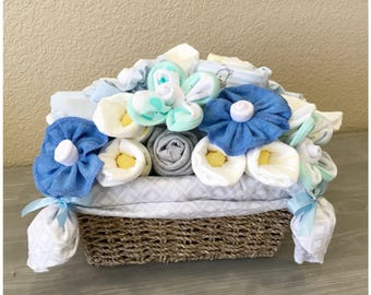 Baby Boy Gift Basket - New Baby Gift/ Co-Worker/Corporate Baby Gift