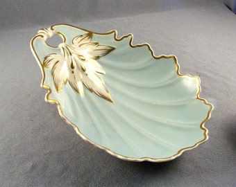Vintage Kaolena Bowl // 1940's // Mid Century // Collector's Find // Intact Gold Decor // NO Damage // Beautiful Bowl Dish