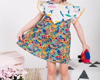 Floral print dress toddler girls Supayana SS2017