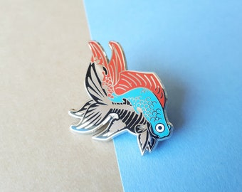 Skeletal Fish Enamel Pin