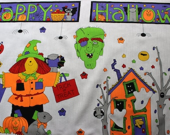 Halloween Designs Cotton Fabric Panel