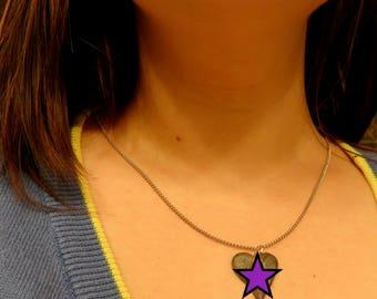 Purple Vulva Pendant Necklace