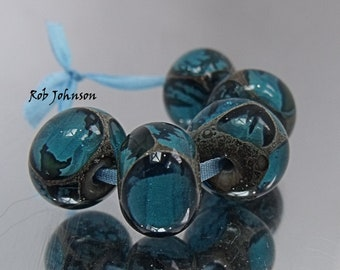 Turquoise Mine, Lampwork Beads, SRA, UK