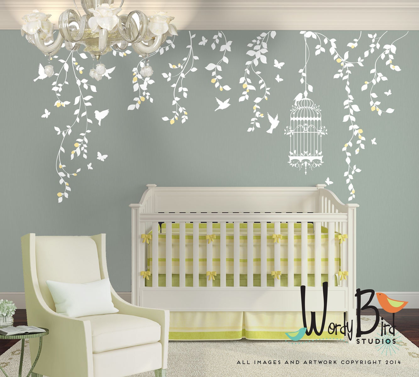 Beau Description. Beautiful And Intricate Nursery Wall Decal For Your Baby Girl  ...