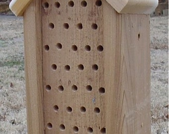 Mason Bee House w/peaked roof