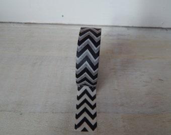 Black Chevron Washi Tape - UK SELLER Flat Rate Shipping