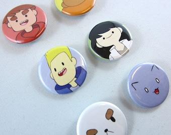 Bravest Warriors (& puppycat!) Buttons/Pins