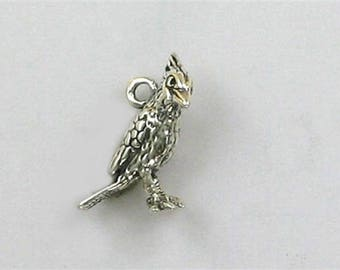 Sterling Silver 3-D Cardinal Charm