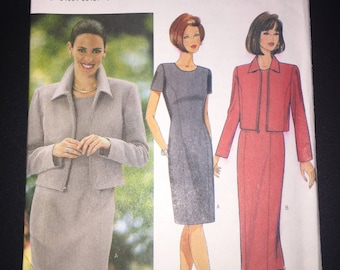 Butterick Sewing Pattern 6209 Uncut Misses and Misses Petite Jacket and Dress Size 8-12
