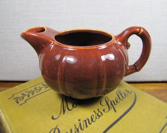 GMB - Gladding McBean - Small Brown Pottery Creamer - Made in U.S.A.