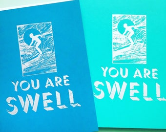 You are Swell Surfer Card