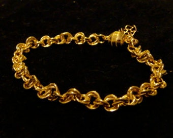 Gold Plate Mobius Weave Chainmaille Bracelet