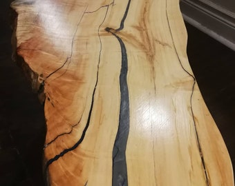 live edge manitoba maple coffee table
