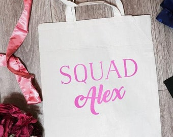 Squad Alex Canvas Tote Bag | Bride Tote Bag | Bride Totes | Bride Accessory | Bridesmaid Tote Bag | Bridal Party Totes | Bachelorette Gifts