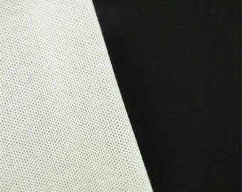 Black/White Double Weave, Fabric By The Yard