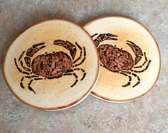 Crab Coaster, Woodburned Crab Coaster, Maine Crab Coaster, Made in Maine Coaster, Woodburned Crab, Birch Coaster, Wood Burned, Father's Day