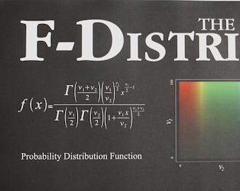 F Distribution Poster