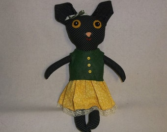 Millicent the Big Eyed Cat Doll