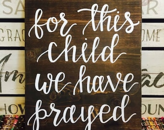 Our child sign