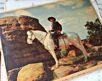 Vintage 1950 Hopalong Cassidy Picture Puzzle