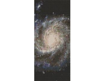 Hubble Galaxy Cuff, pattern for loom or peyote