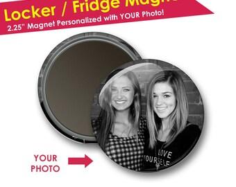Photo Magnets- Back to School Locker Decorations- Locker Magnets- Refrigerator Magnet- Locker Accessories- Friend Gifts- Stocking Stuffer