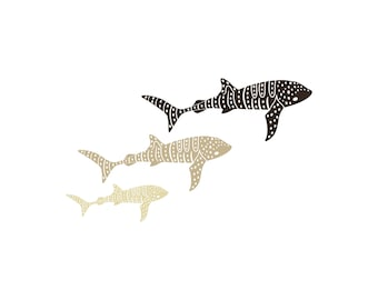 Herd of Whale Sharks Family Car Decal