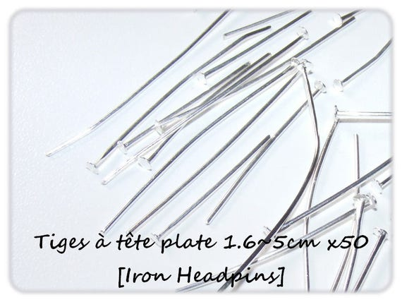 Head pins set flat 1.6 ~ 5 cm x 50 [Iron Headpins.