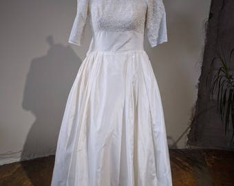 1950s William Cahill Ltd of Beverly Hills Wedding Gown