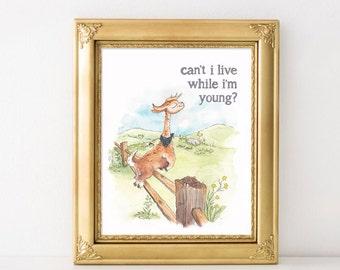 Phish Llama Print / Chalkdust Torture / Kids Wall Art / Music Baby / Phish Kids Decor