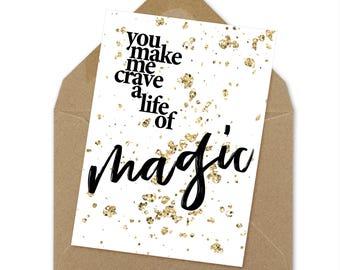 life of magic love card