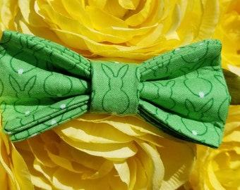 Green bunny hair clip.