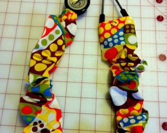 Retro Dots and Curves Stethoscope Covers