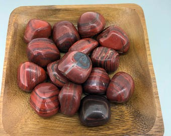 Red Jasper with Hematite Tumbled - Root chakra - Reiki Energy Healing - First Chakra - Base Chakra - Grounding - Protection