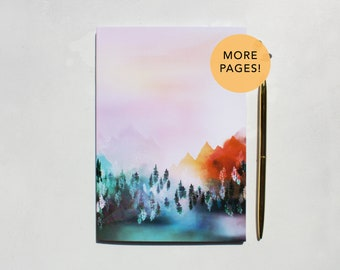 Mystic Mountains thicker A5 Notebook with lined pages