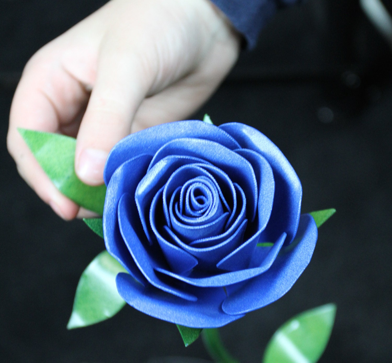 Metal Rose Something Blue Wedding Flower Wedding Flower