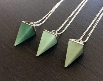 Green aventurine necklace aventurine jewelry aventurine green aventurine necklace aventurine jewelry aventurine pendant aventurine stone crystal necklace aloadofball Image collections