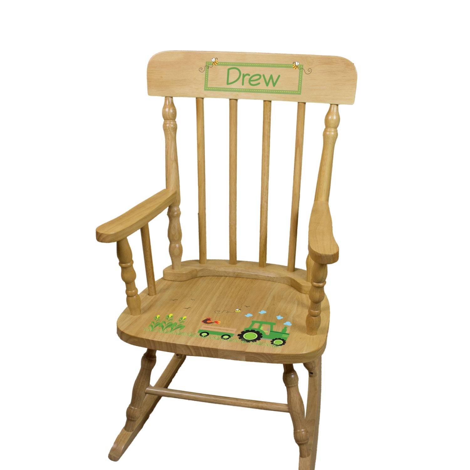 personalized tractor rocking chair boys farm john deere