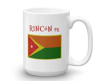 Rincon Puerto Rico Flag Mug for Surfers and Beach Lovers