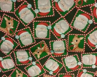 SALE! Rudolph and Santa All Over Christmas Dog Bandana