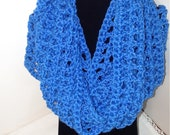 Infinity Neck Scarf, Fashion Accessory, Royal Blue