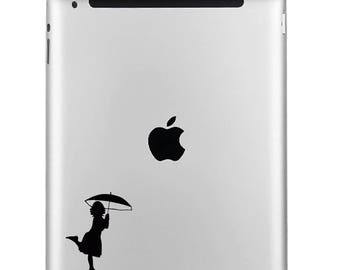 BUY 2 GET 1 FREE Girl with Umbrella Vinyl Decal