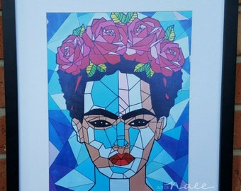 Geometric Frida Art Print