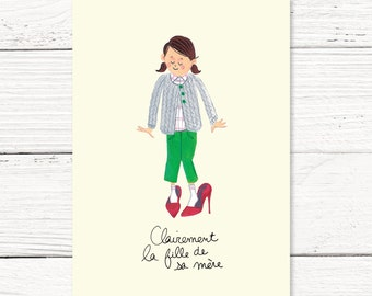 Birthday card // fille de sa mère