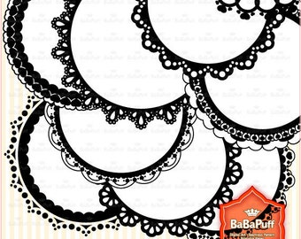 18 Digital Circle Frames Clipart. Personal and Small Commercial Use. BP 0437