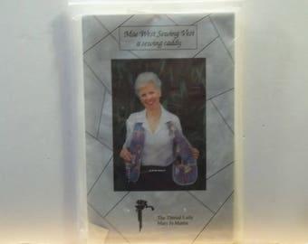 Vintage Sewing Pattern, Mae West Sewing Vest Sewing Caddy,